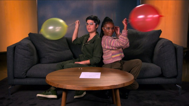 Watch Mythic Quest's Ashly Burch And Imani Hakim Test Their Skills In Paper Football, Juggling, And More