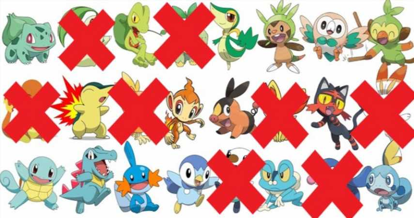 Sorry To All Of The Unpicked Pokemon Starters Out There