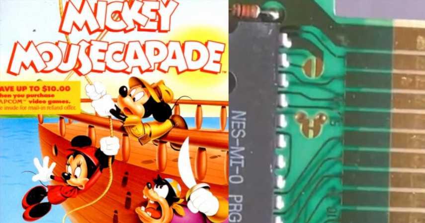 Disney Left A Hidden Mickey Symbol Inside NES Cartridge