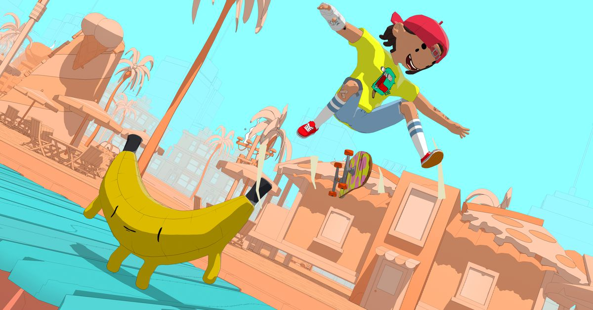 This skateboarding game reminds me of Adventure Time
