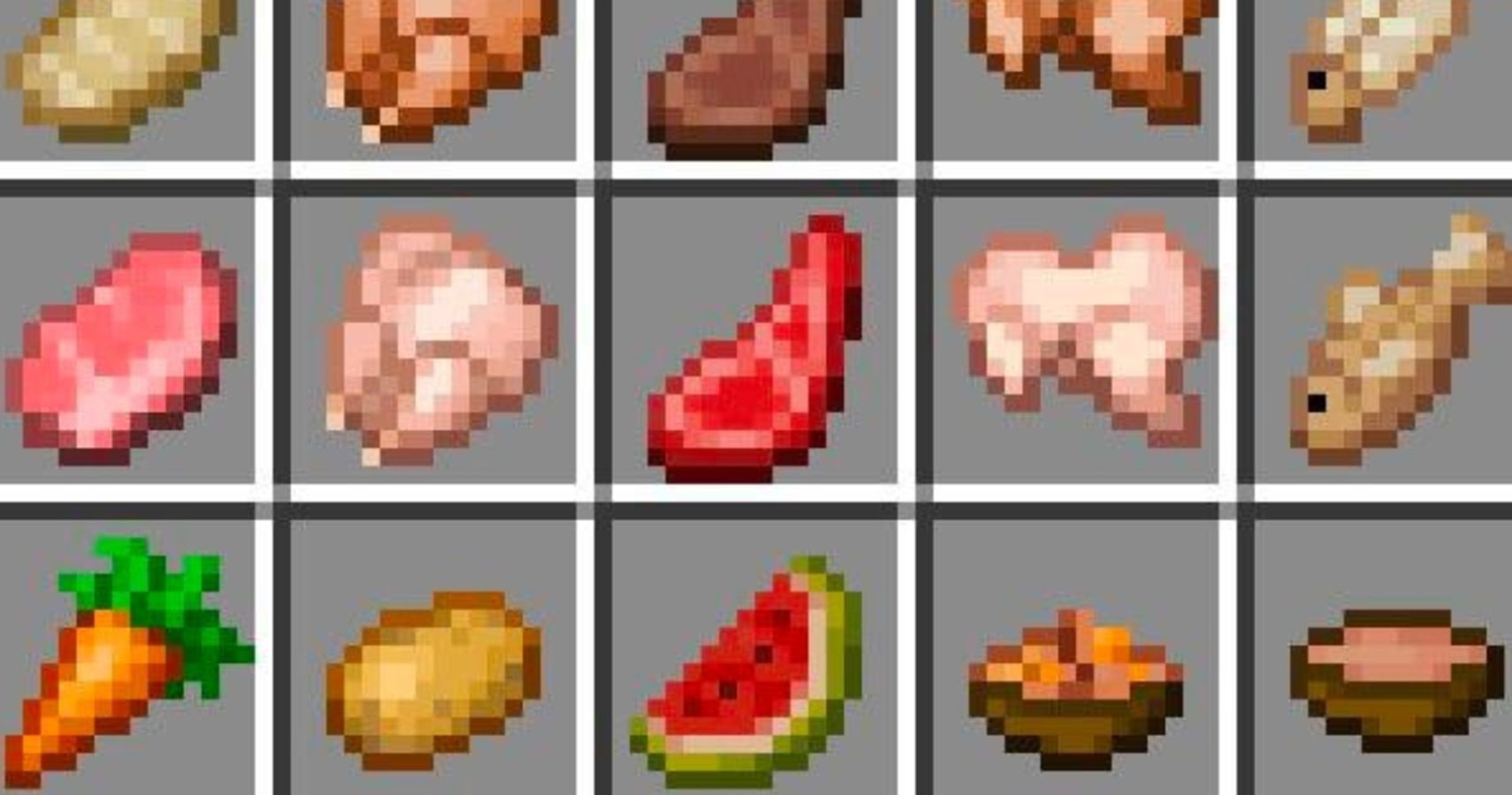 Minecraft: Every Food Item's Hunger And Saturation Values