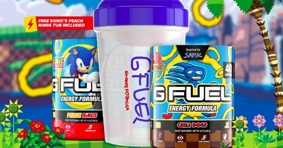 Sonic the Hedgehog's new energy drink tastes like chili dogs