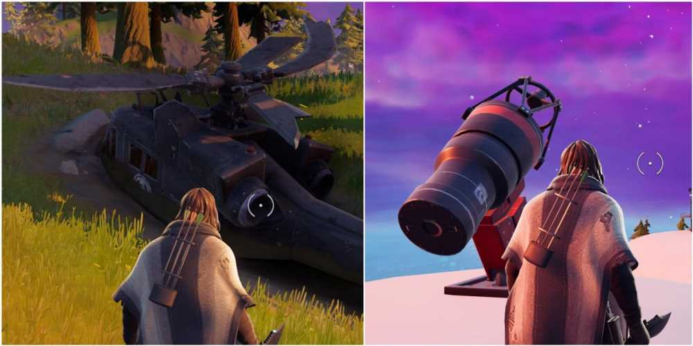 Fortnite: How To Investigate The Downed Black Helicopter And Repair Damaged Telescopes