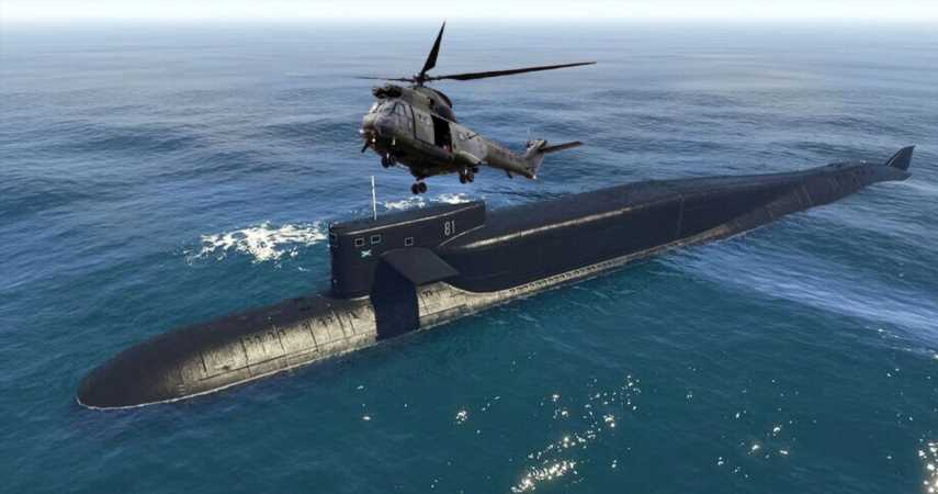 GTA Online Players Are Using Tanks And Helicopters To Lift The Sub Out Of The Sea