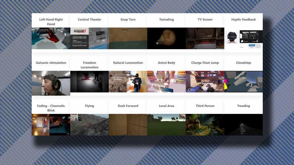 Locomotion Vault Catalogs & Compares 100+ VR Locomotion Techniques