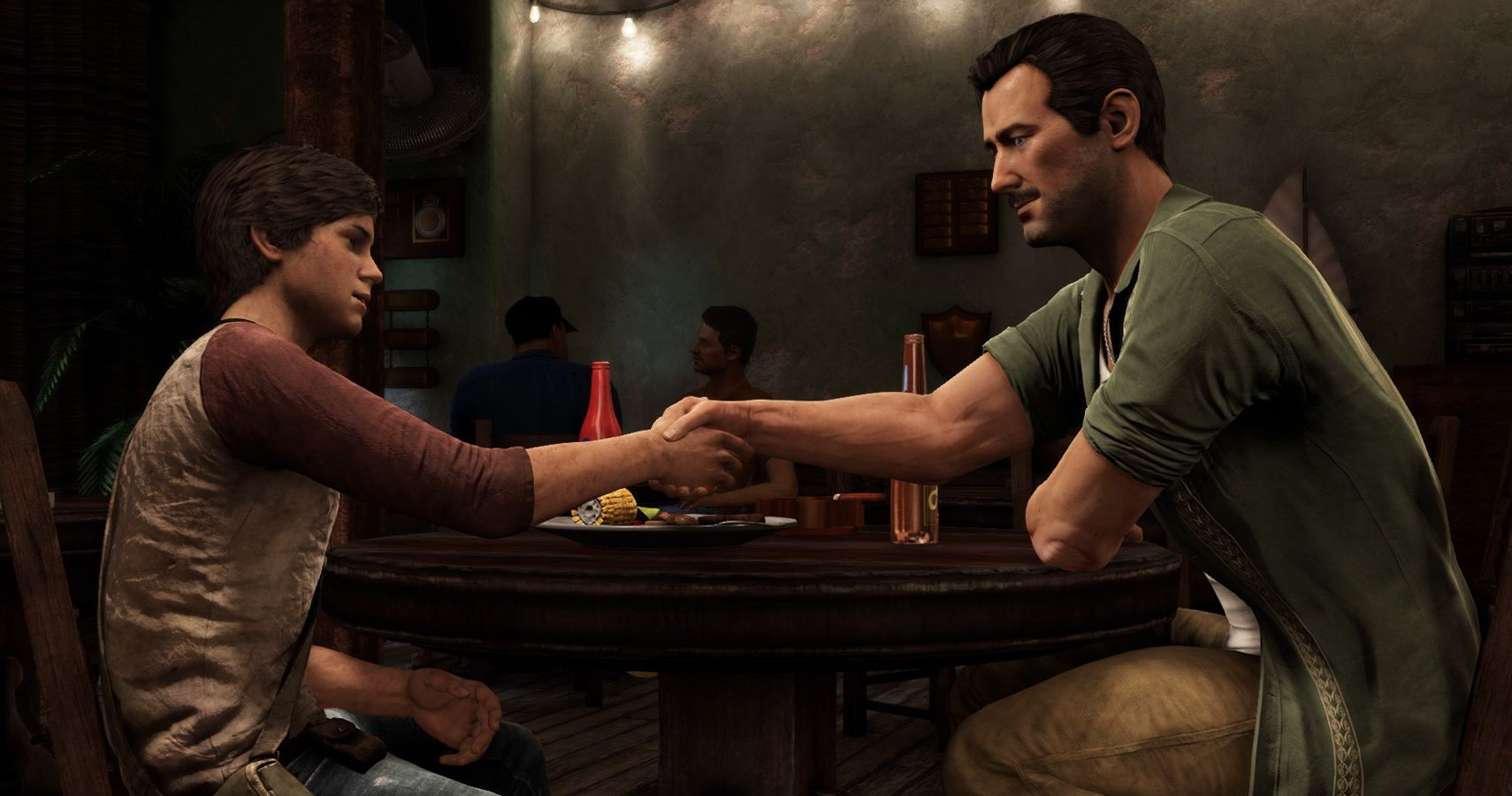 New Uncharted Movie Photo Features Nathan Drake And Sully
