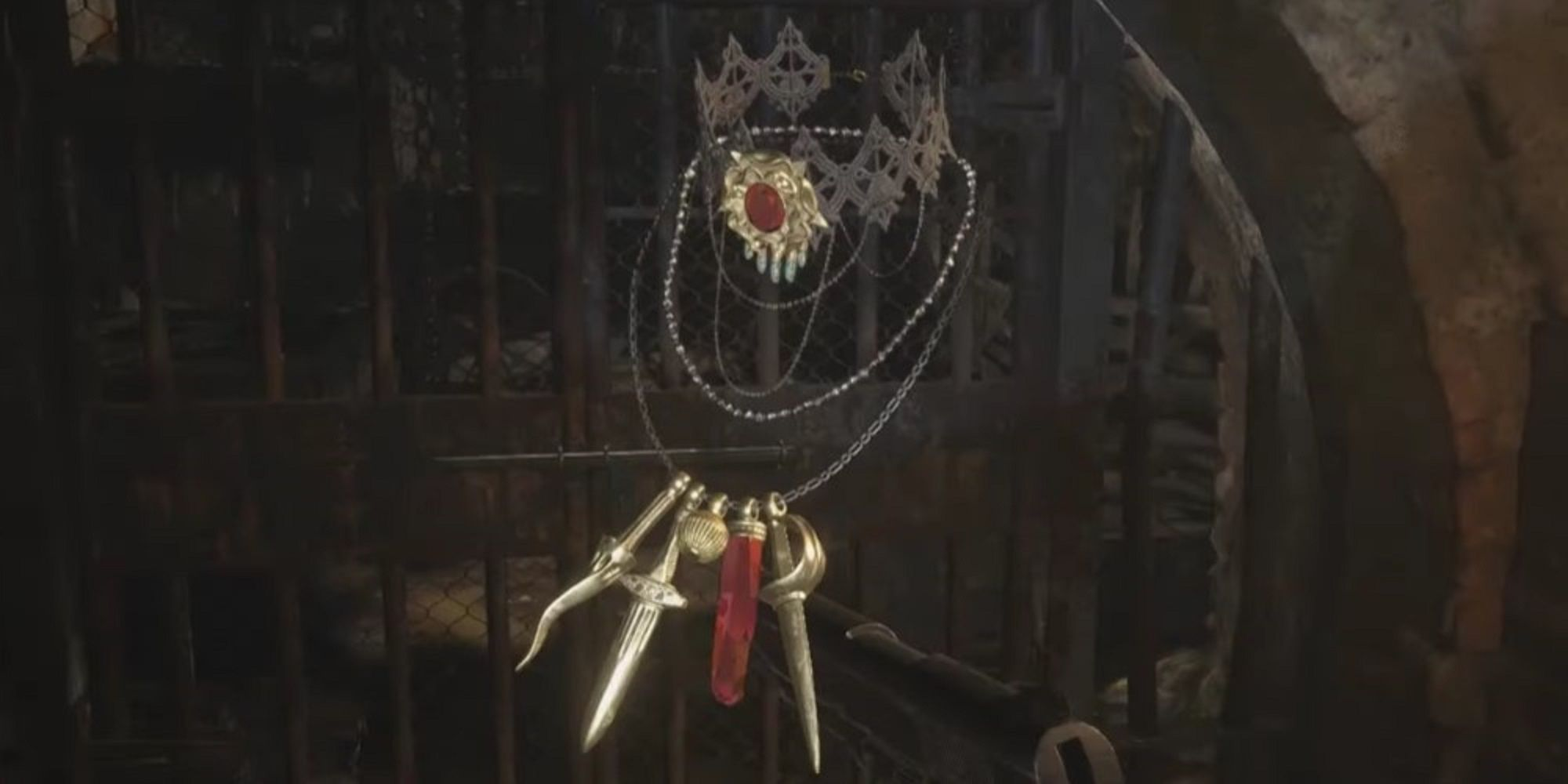 Resident Evil 8 Village Complete The Necklace With Two Holes – Lady Dimitrescu's Necklace
