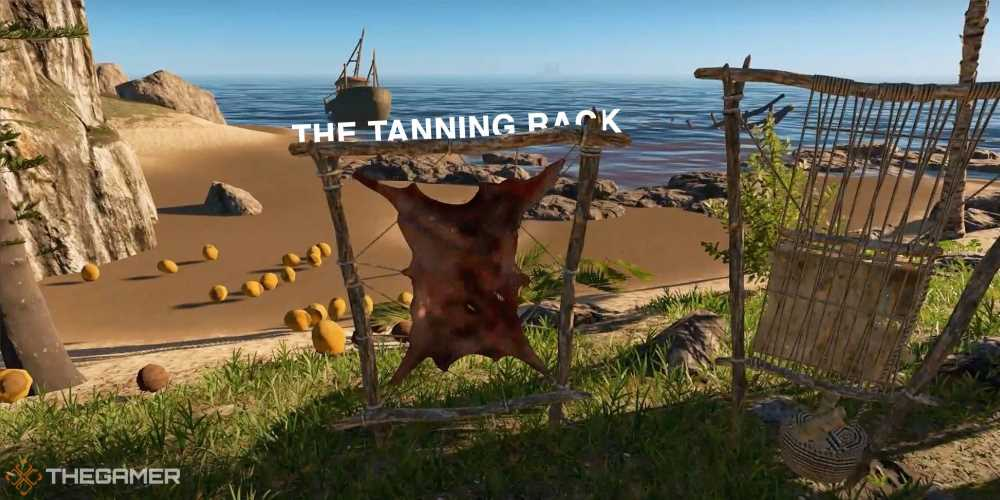 Stranded Deep: How To Use The Tanning Rack