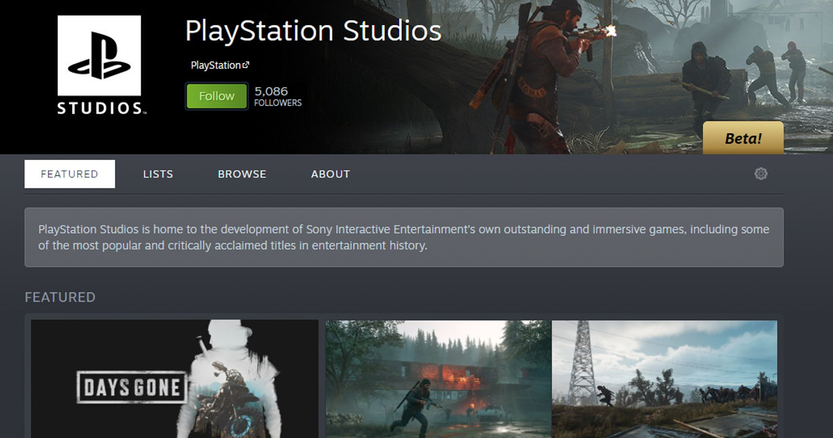 The PlayStation Steam Page Is Live