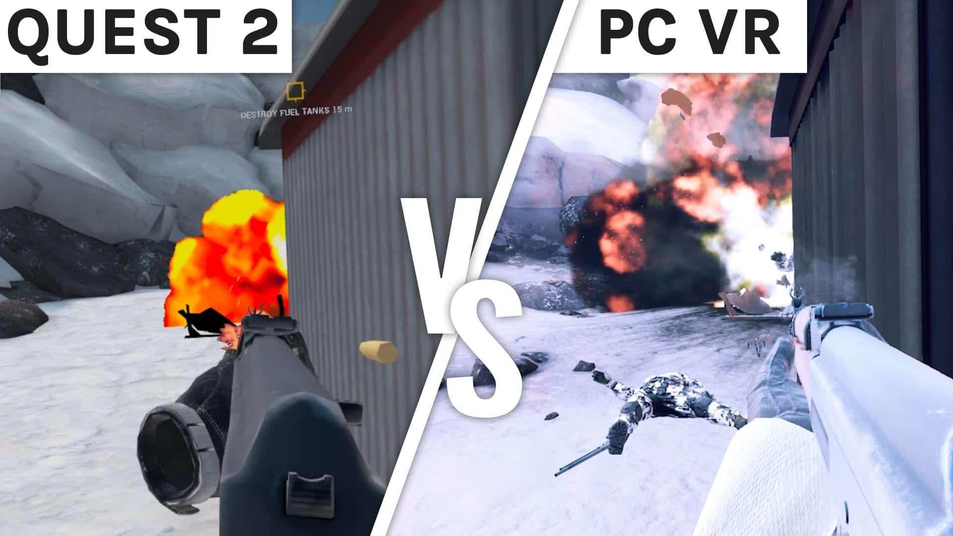 Zero Caliber Graphics Comparison – Quest 2 vs PC VR