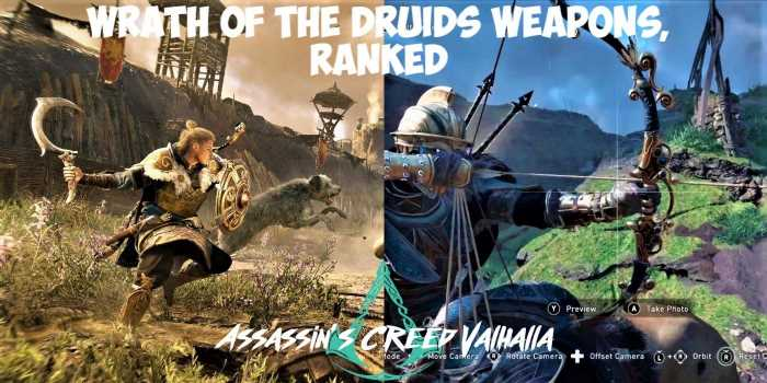 Assassin's Creed Valhalla Wrath Of The Druids: All Of The New Weapons, Ranked