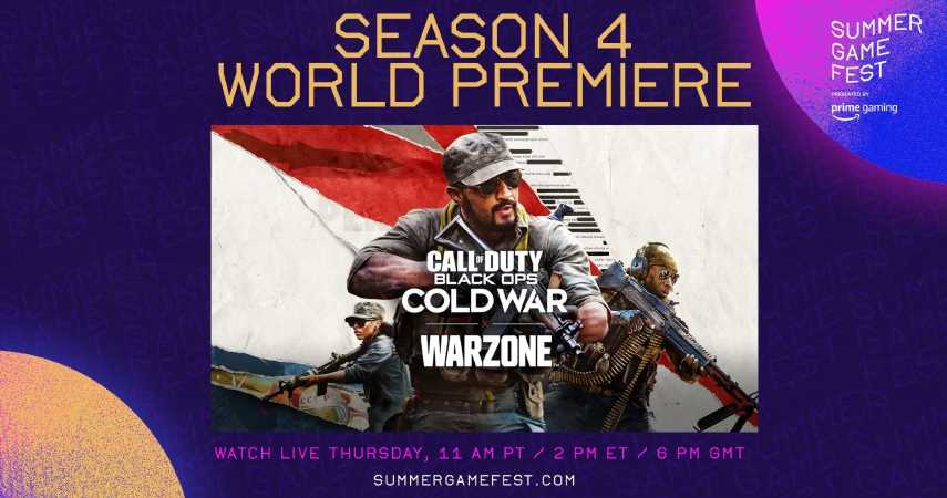 Call Of Duty Season 4 World Premiere Added To Summer Game Fest