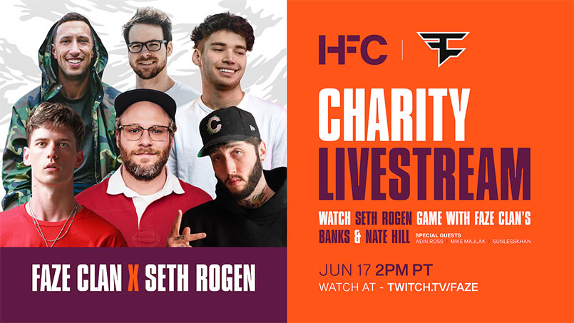 FaZe Clan Partners With Seth Rogen for Alzheimer's Charity Stream – The Esports Observer