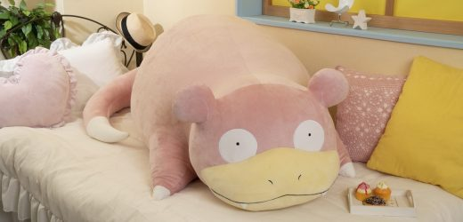I would take a bullet for this life-sized Slowpoke plush