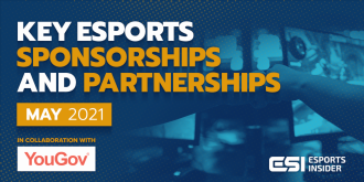Key esports sponsorships and partnerships, May 2021 – Esports Insider