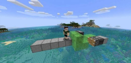 Minecraft: How To Make A Flying Machine With Slime Blocks