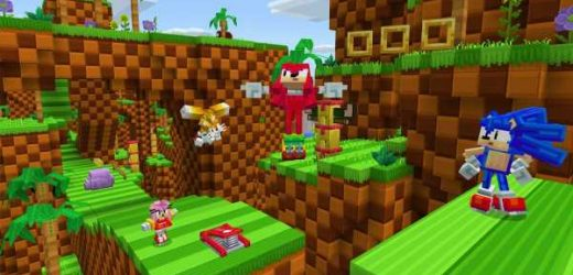 Sonic the Hedgehog is in Minecraft now