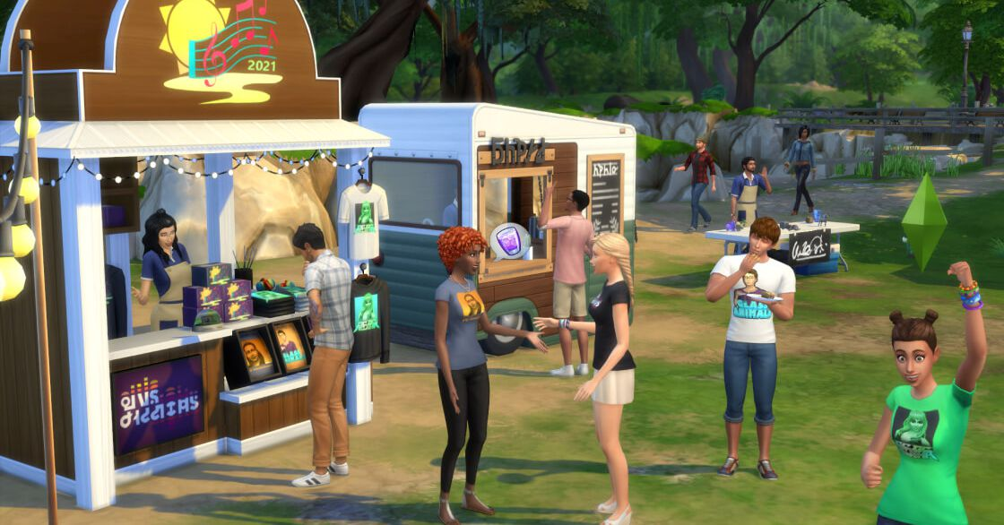 The Sims 4 is getting in-game music festivals with good vibes