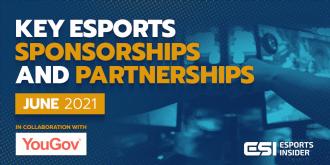 Key esports sponsorships and partnerships, June 2021 – Esports Insider