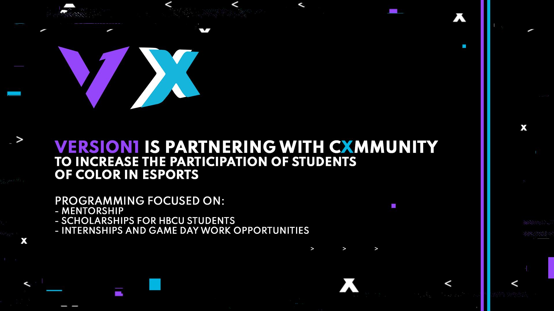 Cxmmunity and Version1 launch esports scholarship, mentorship programmes for HBCU students – Esports Insider