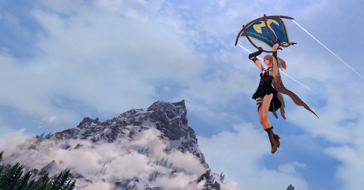 Soar around Skyrim with Link's Breath of the Wild paraglider