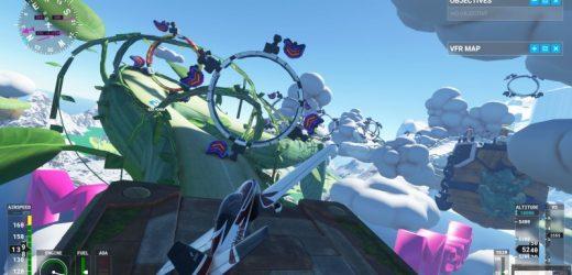 This Microsoft Flight Simulator Mod Adds Mario Kart-Inspired Tracks